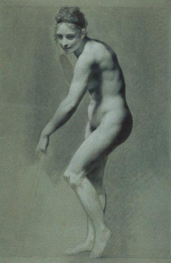 Standing Female Nude | Pierre Paul Prud'hon | Oil Painting