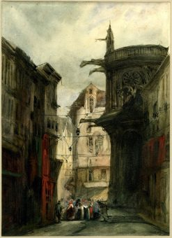 A view of Le Havre | Richard Parkes Bonington | Oil Painting