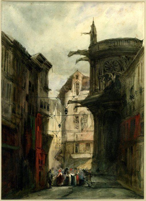A view of Le Havre | Richard Parkes Bonington | Oil Painting