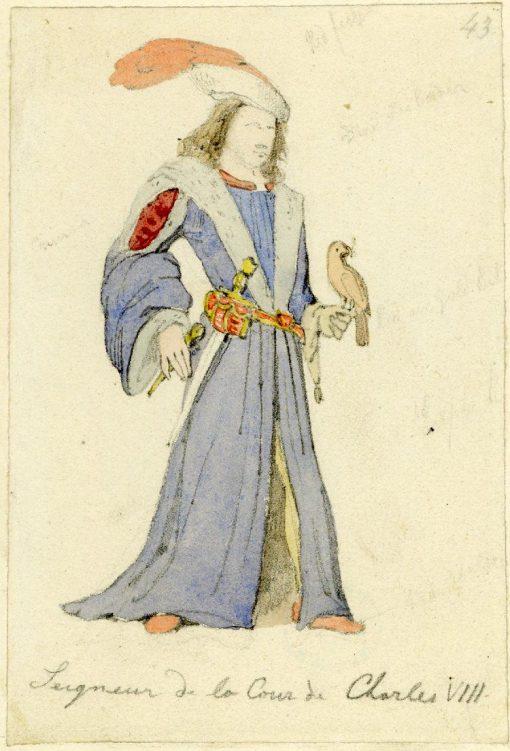 Seigneur de la Court de Charles VIII'   Richard Parkes Bonington   Oil Painting