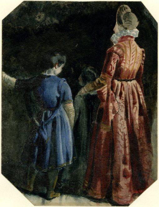 Study of Three Standing Figures   Richard Parkes Bonington   Oil Painting