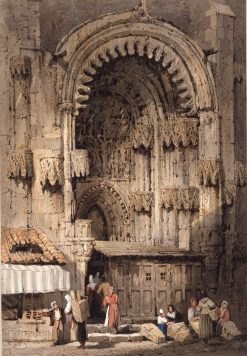 Porch of Prague Cathedral | Samuel Prout | Oil Painting