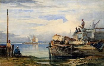 Fishing Boats on the Thames Estuary | Samuel Prout | Oil Painting