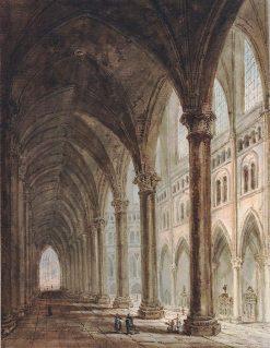 Laon Cathedral   Thomas Girtin   Oil Painting