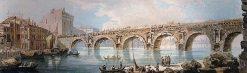 The bridge in Rimini (after Piranesi)   Thomas Girtin   Oil Painting
