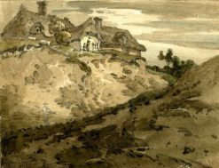 Cottages on a Hill | Thomas Girtin | Oil Painting