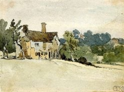 Cottage in a field | Thomas Girtin | Oil Painting