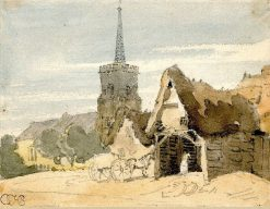 Church in a village | Thomas Girtin | Oil Painting