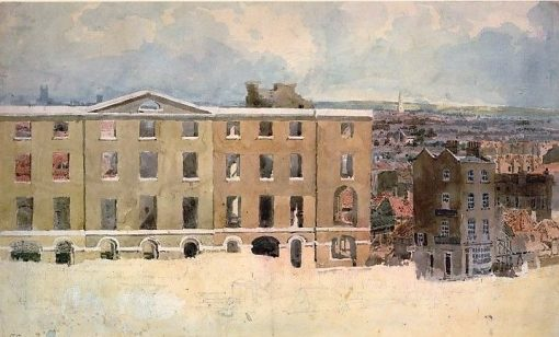 Albion Mills after the fire | Thomas Girtin | Oil Painting