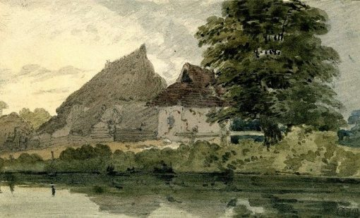 A river-side farm | Thomas Girtin | Oil Painting