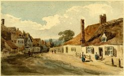 A Village street | Thomas Girtin | Oil Painting