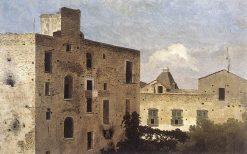 Houses in Naples   Thomas Jones   Oil Painting
