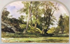 Trees near Bristol   William James Muller   Oil Painting