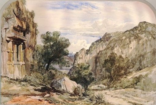 View from Makri towards the Valley of the Glaucus   William James Muller   Oil Painting