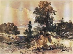 Purfleet; a Sandy Hollow with Trees | William James Muller | Oil Painting