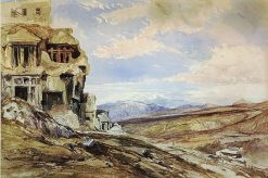 Rock Tombs at Tlos; part of the Acropolis of Tlos | William James Muller | Oil Painting