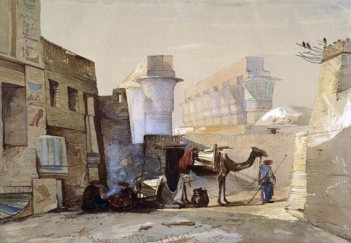 View of Luxor   William James Muller   Oil Painting