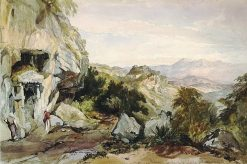 Rock tomb at Pinara | William James Muller | Oil Painting