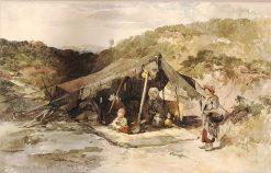 Zingari's Tent   William James Muller   Oil Painting