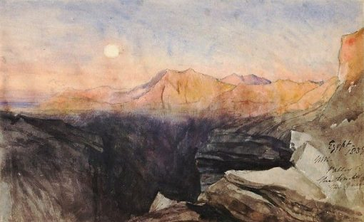 Valley of the Tombs of the Queens   William James Muller   Oil Painting