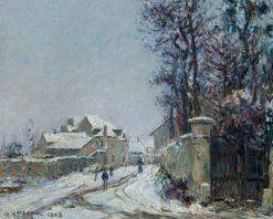 Snow at Saint-Ouen l'Aumône   Gustave Loiseau   Oil Painting