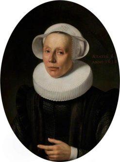 Portrait of a Lady   Nicolaes Eliasz. Pickenoy   Oil Painting