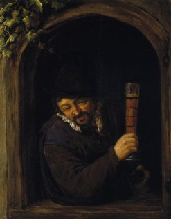 Peasant at a Window | Adriaen van Ostade | Oil Painting