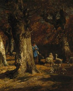 The Old Forest | Charles Emile Jacque | Oil Painting