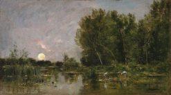 Moonrise | Charles Francois Daubigny | Oil Painting