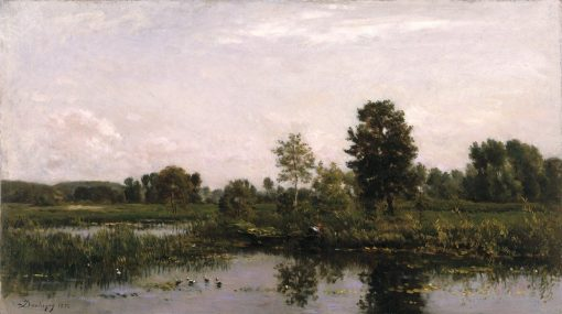 A Bend in the River Oise | Charles Francois Daubigny | Oil Painting