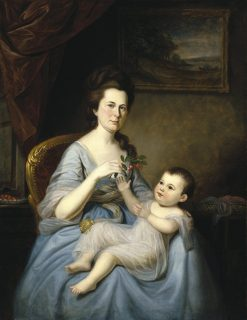 Mrs. David Forman and Child | Charles Willson Peale | Oil Painting