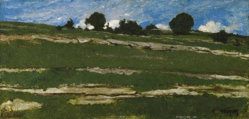 Hillside with Rocky Outcrops | Constant Troyon | Oil Painting