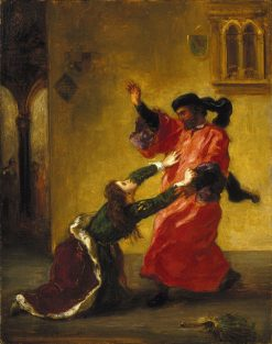 Desdemona maudite par son pere (Desdemona Cursed by her Father) | Eugene Delacroix | Oil Painting