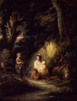 Halt of Traveling Peasants by a Woodside | Gainsborough Dupont | Oil Painting