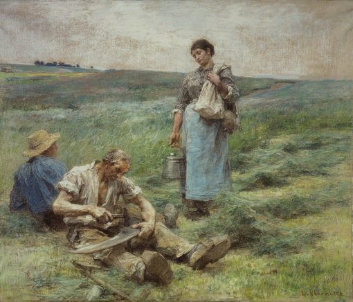 Old Harvester's Meal | LEon Augustin Lhermitte | Oil Painting