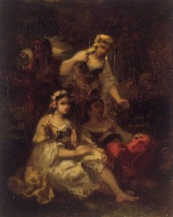 Four Spanish Maidens | Narcisse Dìaz de la Peña | Oil Painting