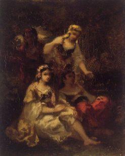 Four Spanish Maidens | Narcisse Dìaz de la Peña | Oil Painting