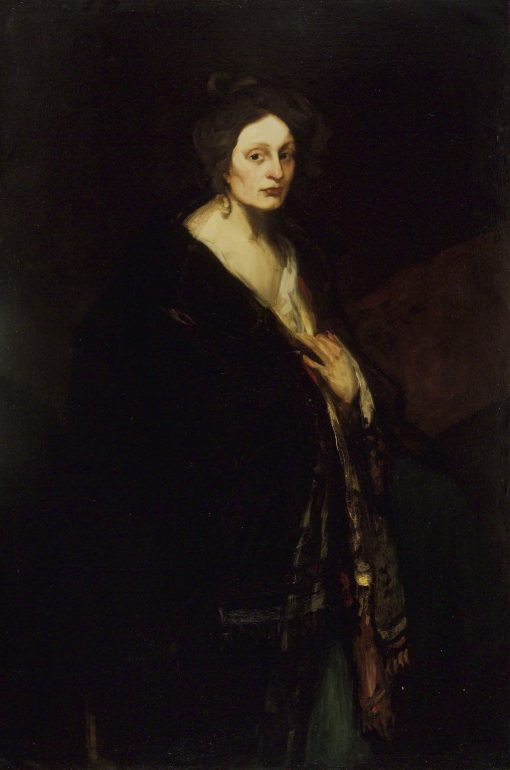 Woman in Manteau | Robert Henri | Oil Painting