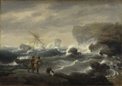 Shipwreck | Thomas Birch | Oil Painting