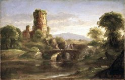 Ruined Castle and River | Thomas Cole | Oil Painting