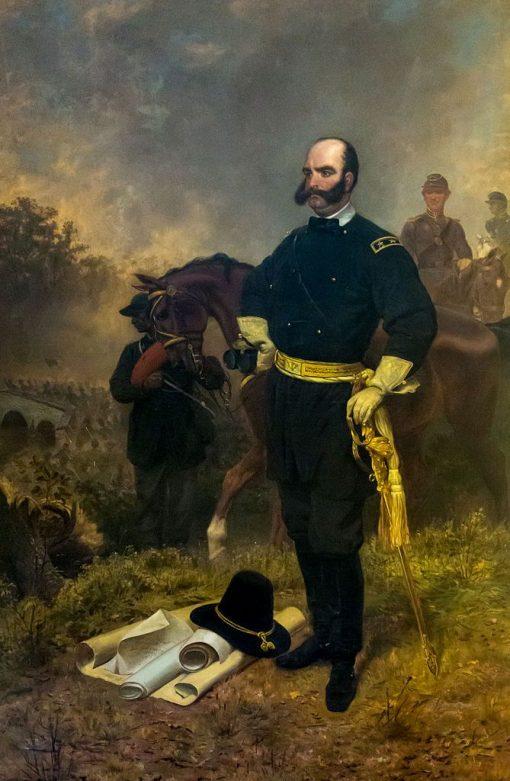 General Ambrose Burnside at Antietam | Emanuel Gottlieb Leutze | Oil Painting