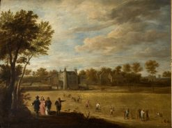 View of David Teniers' Chateau Drij Toren at Perck | David Teniers II | Oil Painting
