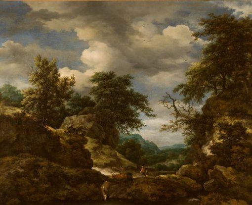 Rocky Wooded Landscape | Jacob van Ruisdael | Oil Painting