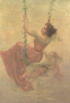 Swinging | Edouard Bisson | Oil Painting