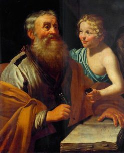Saint Matthew and the Angel | Jan van Bijlert | Oil Painting