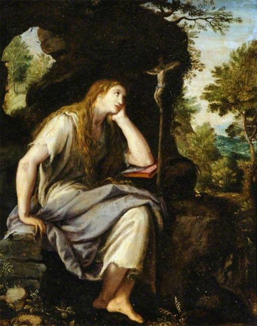 The Penitent Magdalen in the Wilderness | Alessandro Allori | Oil Painting
