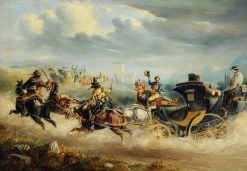 Coaches Attacked by Brigands on a Spanish Road | Charles Cooper Henderson | Oil Painting