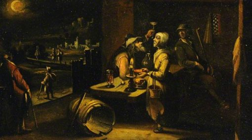 A Man and Woman at Table | Hendrick van Steenwijck the Younger | Oil Painting