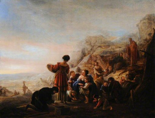 The Israelites Gathering Manna in the Wilderness | Jacob Willemsz. de Wet | Oil Painting