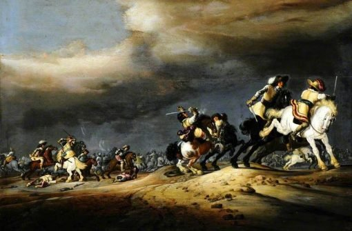 A Cavalry Skirmish | Palamedes Palamedesz I | Oil Painting